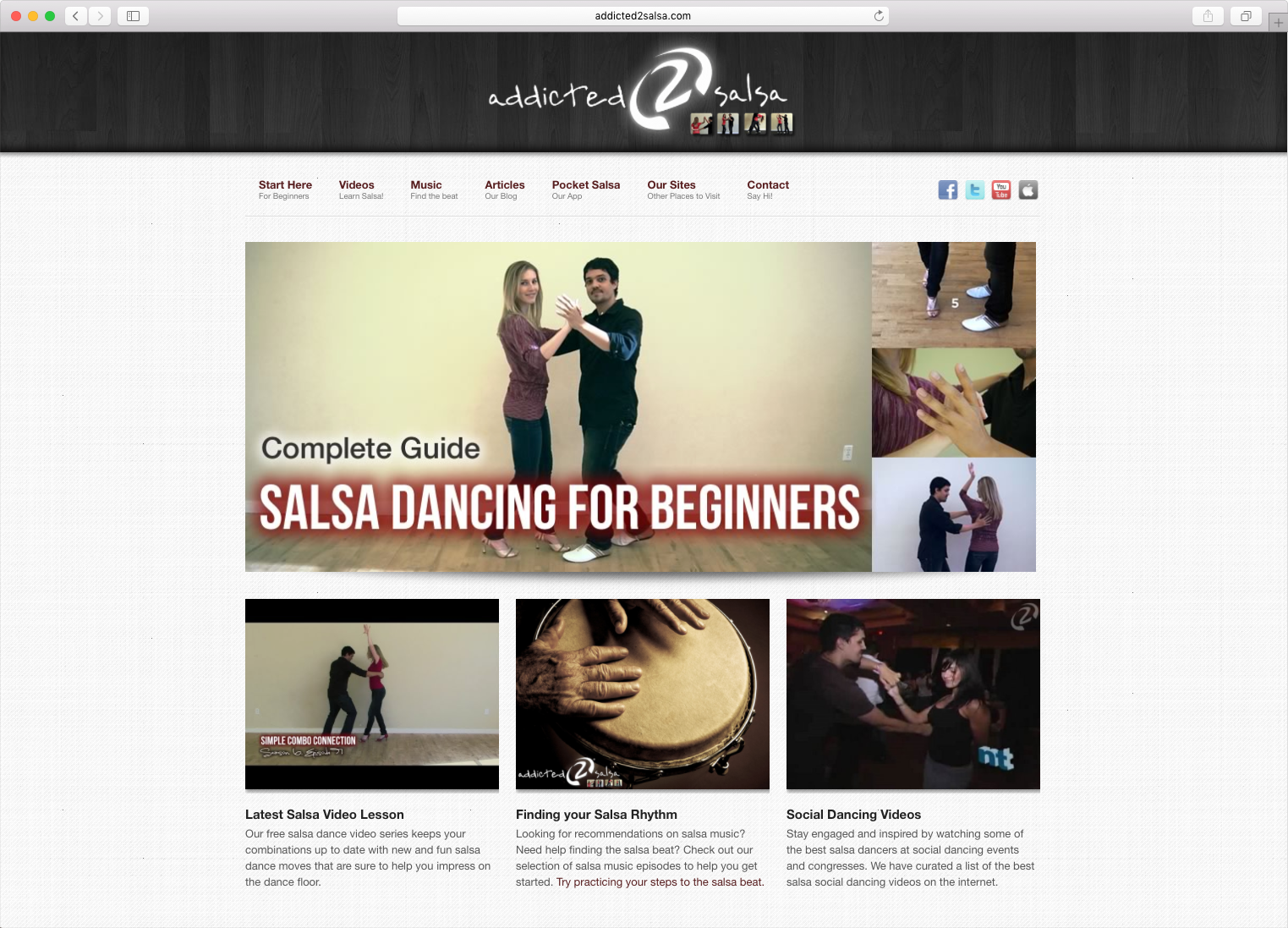 Modernistik Project: Addicted2Salsa Website