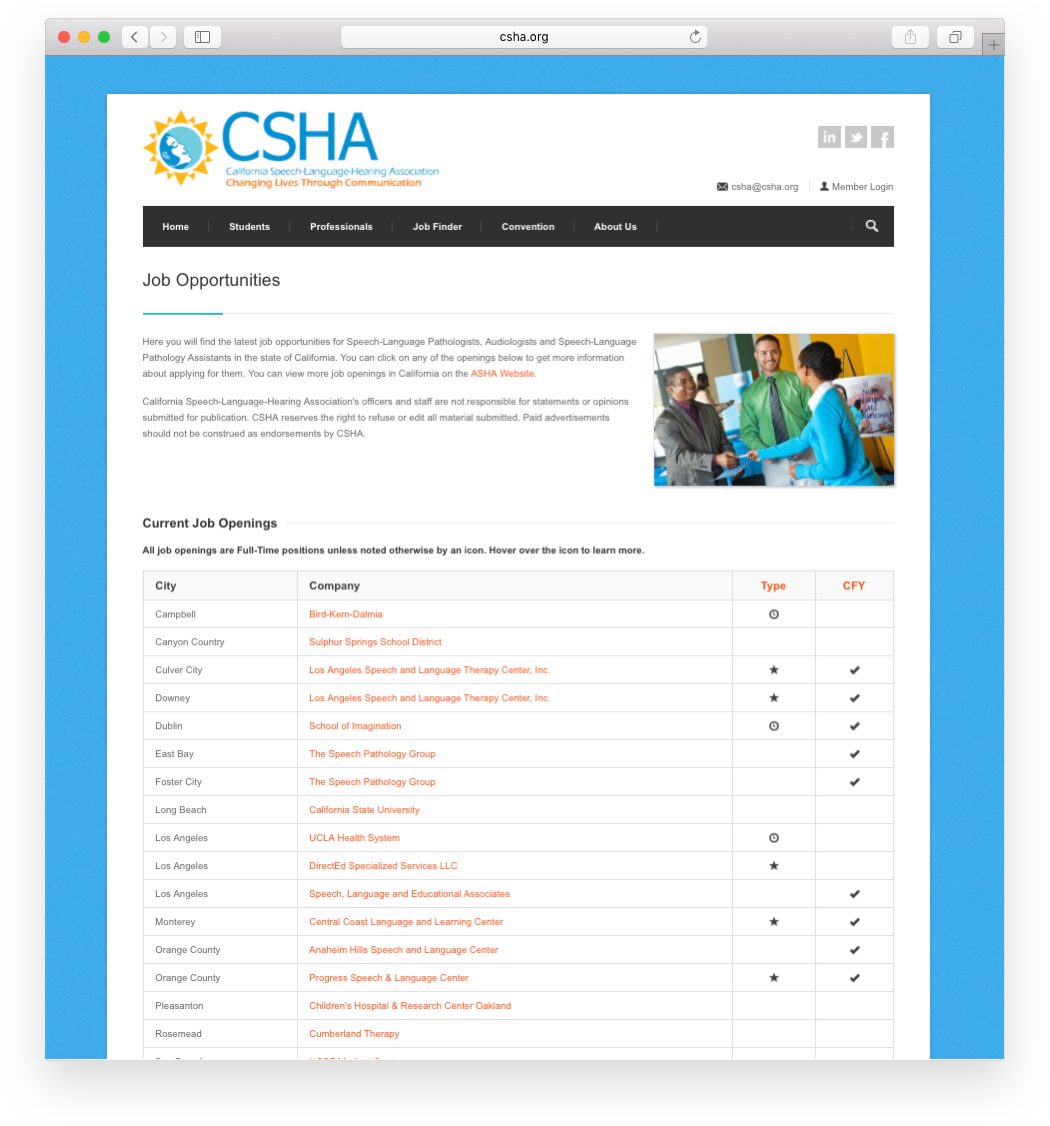 Modernistik Project: CSHA Website Portal (jobs)