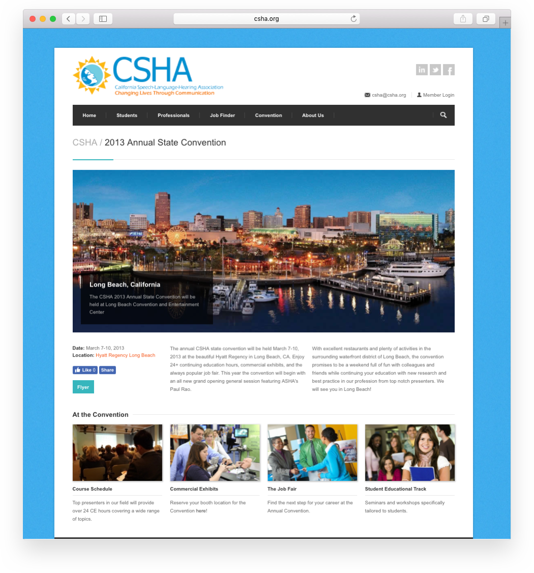 Modernistik Project: CSHA Website Portal (landing)