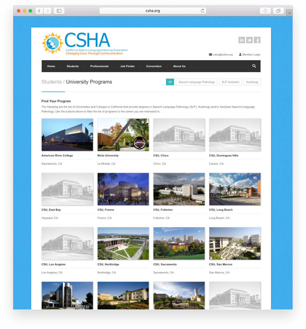 Modernistik Project: CSHA Website Portal (programs)
