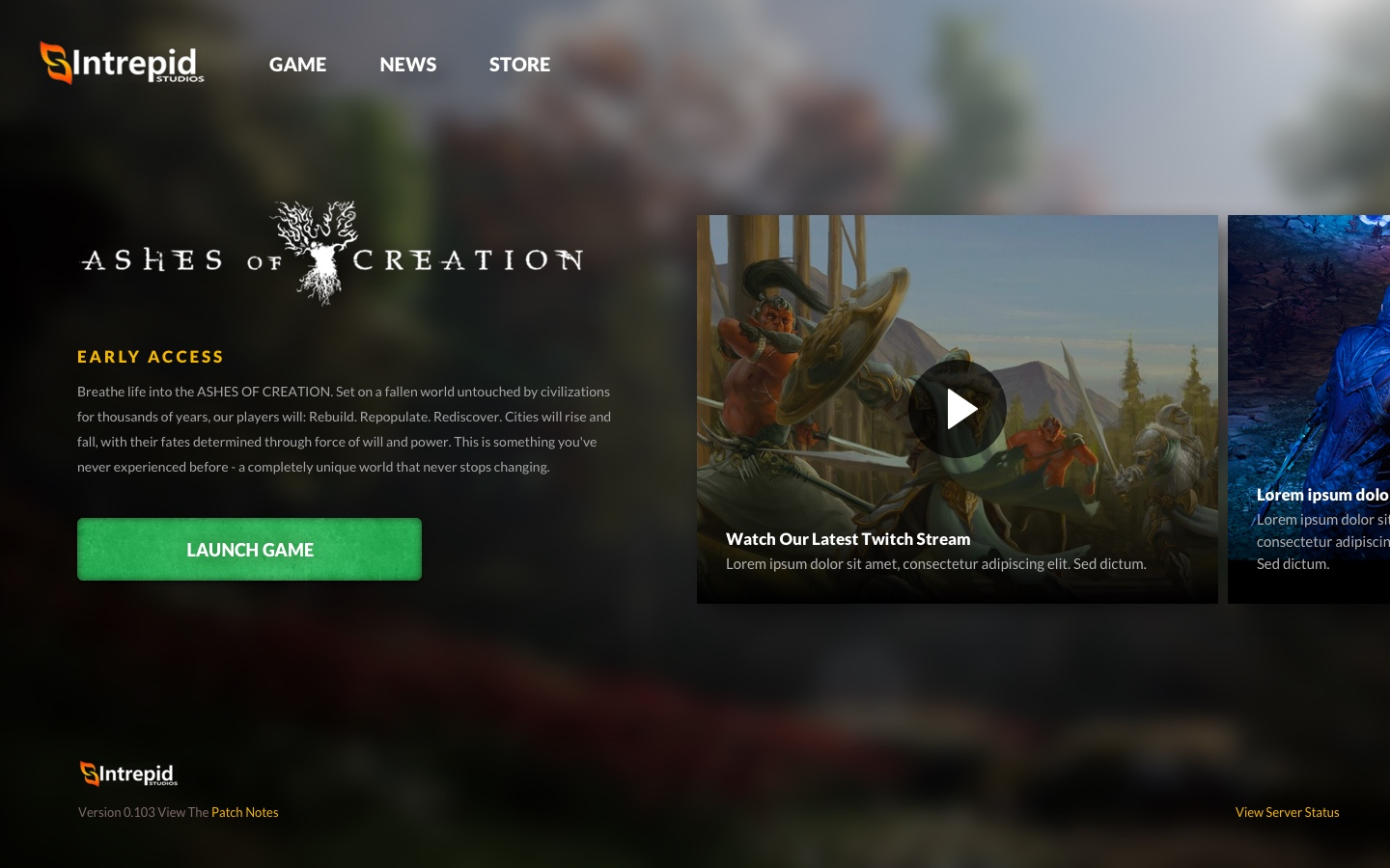 Modernistik Project: Ashes of Creation Game Launcher (ashes-of-creation-1)