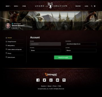 Modernistik Project: Ashes of Creation Website
