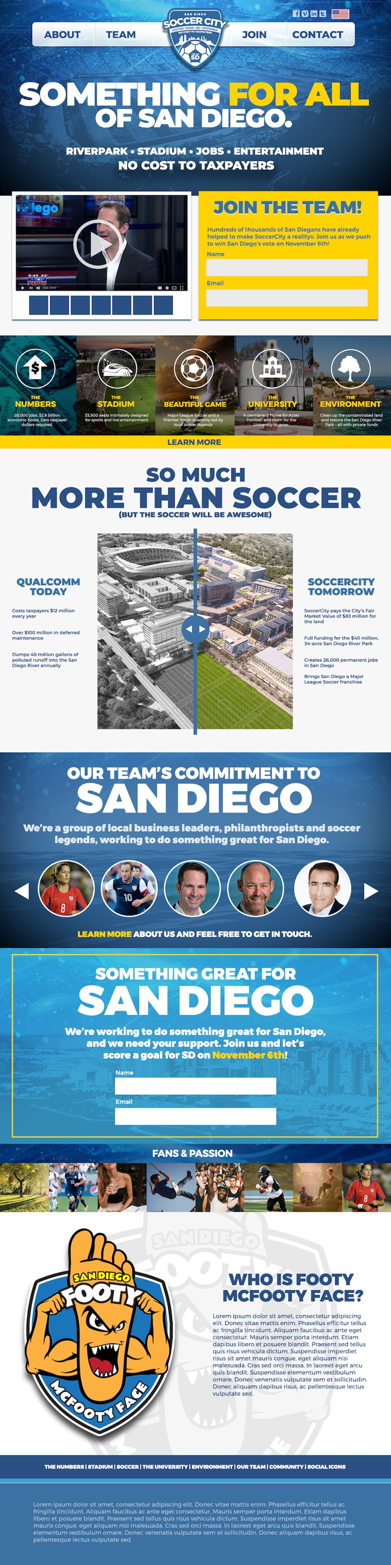 Modernistik Project: SoccerCity SD Website (landing-page)