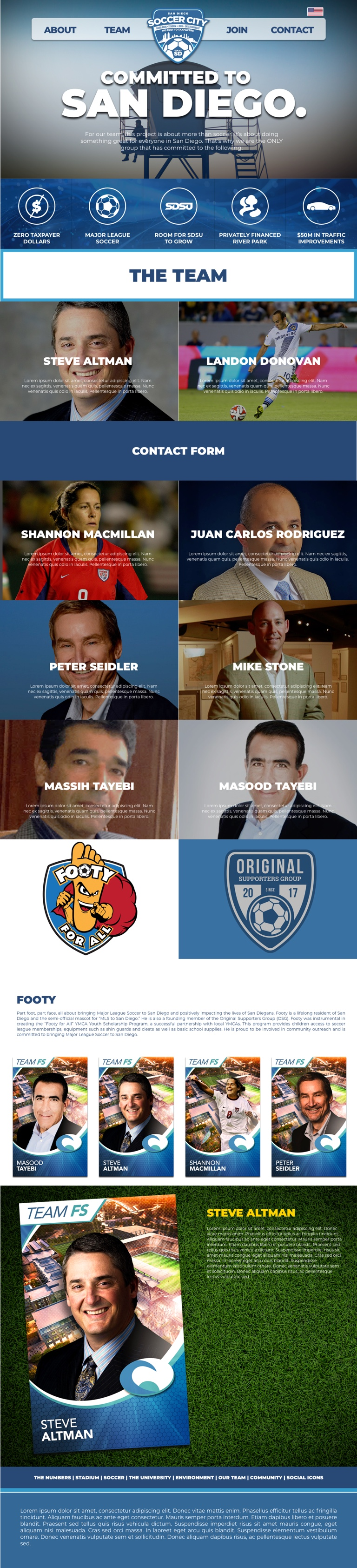 Modernistik Project: SoccerCity SD Website (team-page)